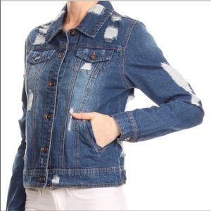 Evolving Always Jackets & Coats - 🆕Distressed Denim Jacket Trending